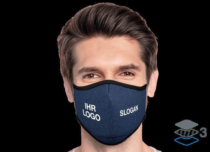 Denim - Schutzmaske mit Logo
