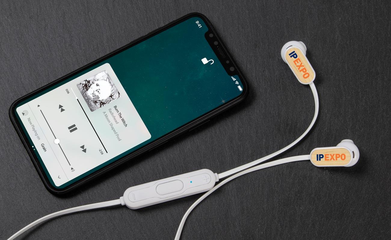 Grain Bluetooth® - Wireless in Ear Kopfhörer Bedrucken
