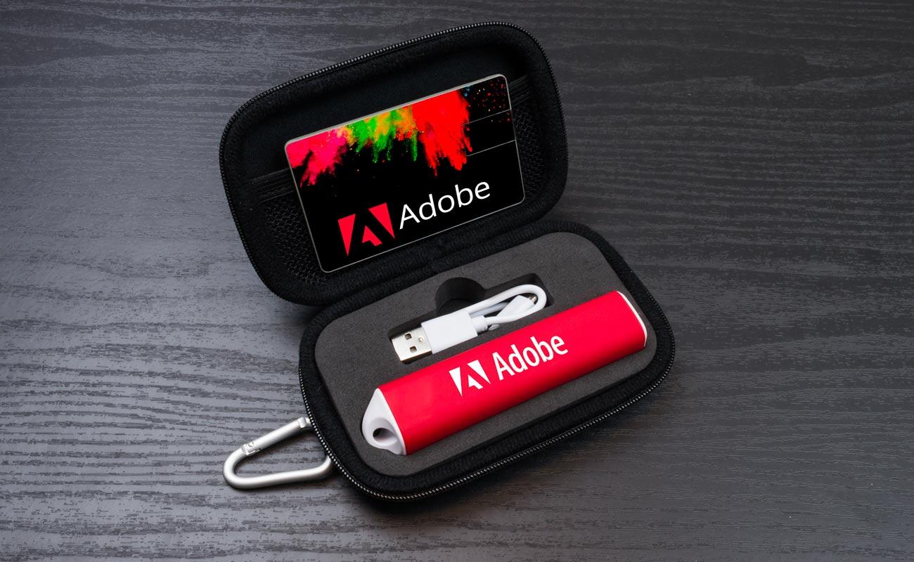 Impact S - USB Stick Bedrucken und Powerbank Werbegeschenk