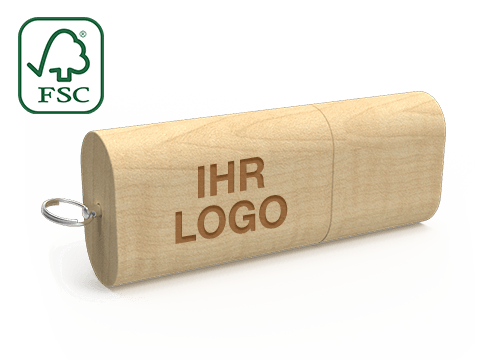 Nature - USB Stick Holz Gravur