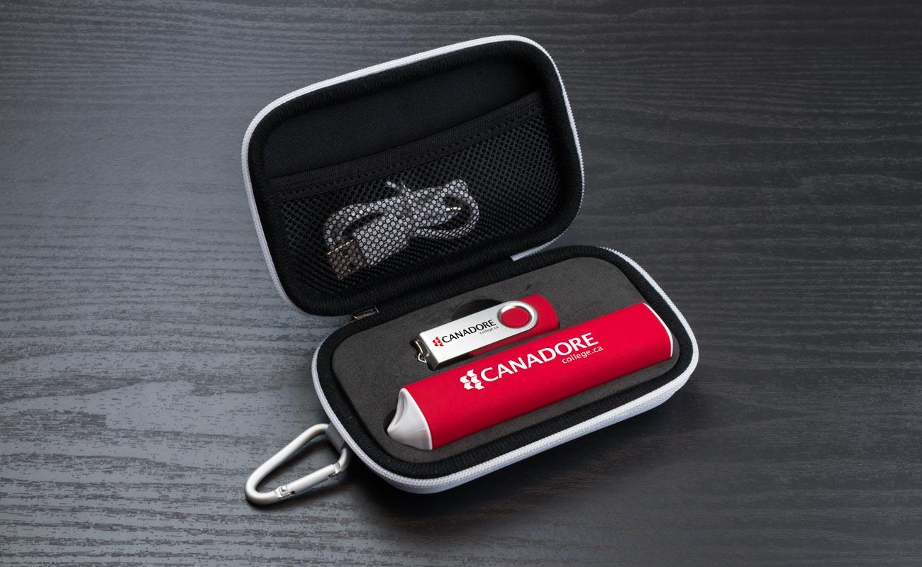 Pure S - USB Stick Bedrucken und Powerbank Werbegeschenk