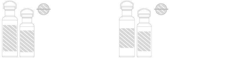 Wasserflasche Siebdruck